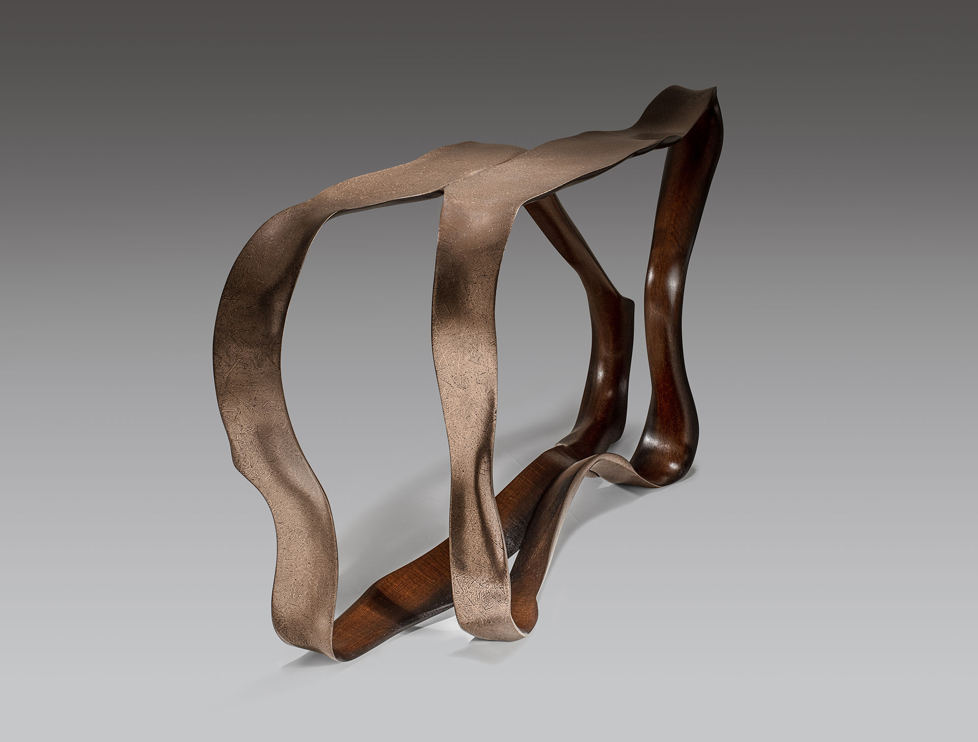 Marc Fish Mokume-gane Console Table